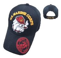 Licensed US Marine Corps Hat [Bulldog] *Black